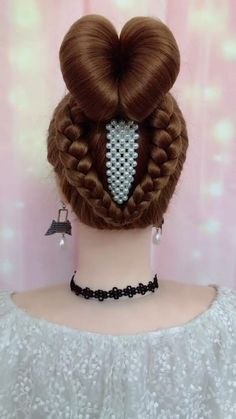 Hairdo For Long Hair, Bun Hairstyles For Long Hair, Headband Hairstyles, Girl Hairstyles, Braided Hairstyles, Hairstyle Braid, Beautiful Hairstyles, Party Hairstyles, Front Hair Styles