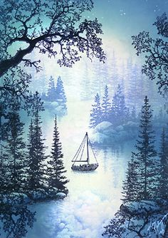 Early Morning on the Lake:Fog & Mist.image from Kevin Nakagawa of Stampscapes. Scrapbook Cards, Scrapbooking, Art Impressions, Get Well Cards, Handmade Birthday Cards, Watercolor Cards, Masculine Cards, Pictures To Paint, Paper Background