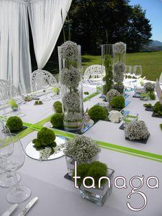 Décoration de table, composition florale, mariages,