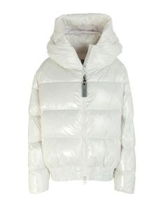 Techno fabric Logo Basic solid color Single-breasted Zip Hooded collar Multipockets Long sleeves Duck down filling Contains non-textile parts of animal origin Duck Down, World Of Fashion, Mantel, Hoods, Bacon, Winter Jackets, Single Breasted, Techno, Logo