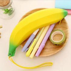 Hor Kawaii Pencil Case School Student Supplies Cute Banana Pen Bag For Girls Stationery Box Holder Storage Pencilcase BGJ01 #Affiliate