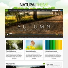 Natural theme is a fresh wordpress themes from organicthemes