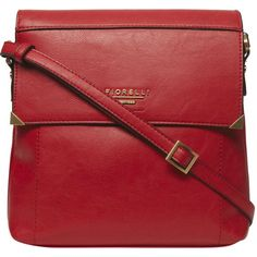 Fiorelli Red 'Justine' Crossbody ($89) ❤ liked on Polyvore featuring bags, handbags, shoulder bags, red, red shoulder bag, red crossbody purse, fiorelli, crossbody shoulder bags and cross body