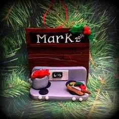 One of a kind handcrafted and personalized Christmas Ornaments & Magnets for your holiday and FE gift needs, made by Keepsakes by Nicolina! Personalized Christmas Ornaments, Keepsakes, Personalized Gifts, My Love, Holiday Decor, Cooking, Custom Christmas Ornaments, Souvenirs, Kitchen
