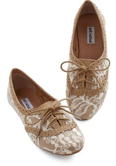 Joined at the Skip Flat in Caramel | Mod Retro Vintage Flats | ModCloth.com