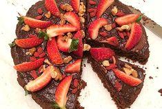 Gluten Free Chocolate Mud Cake with Raw Chocolate Ganache