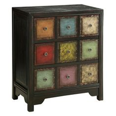 Caleb 3 Drawer Chest from Coast to Coast. Painting each square a different color adds so much character!