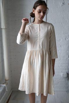 Wrk Shp Button Dress Blush