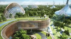 Vincent Callebaut - Project of  new city -Flavours orchard