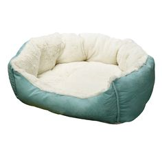 DOZZZ Fit Medium Sized Dog / Fat Cat, Machine Washable, Ultra Soft Pet Sofa, Blue ** New and awesome product awaits you, Read it now