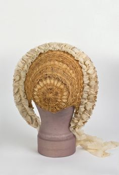Leah or Mary could have afforded a straw bonnet like this, when working or going for a walk it was beneficial to keep hair out of ones face while looking nice.