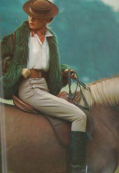 Stylish riding gear; Vogue 1973.