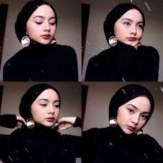Hijab Turban Style, Mode Turban, Hijab Outfit, Hijab Chic, Pashmina Hijab Tutorial, Hijab Style Tutorial, Modern Hijab Fashion, Grunge Fashion, Muslim Fashion