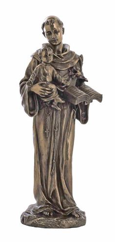 Saint Anthony With Baby Jesus Figure St. of  of Lost Articles 10.5 Tall Catholic
