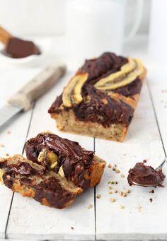 ... vegan gluten-free banana bread with vegan nutella spread ...