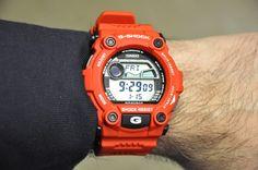 Casio G7900A-4 g-shock watch on hand