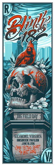 Blink 182 Maxx242 Richmond Poster World Premiere Exclusive