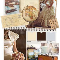 World travellers wedding theme