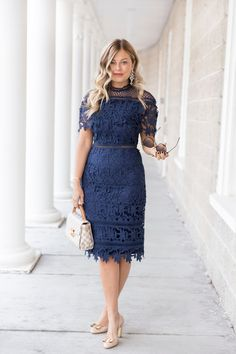 Dress: c/o Chi Chi London {also love this} Blue Dress Outfits, Modest Outfits, Indian Fashion Modern, Royal Clothing, Vintage Clothing, Lace Dress Styles, Sunday Dress, Beautiful Summer Dresses, Cute Dresses