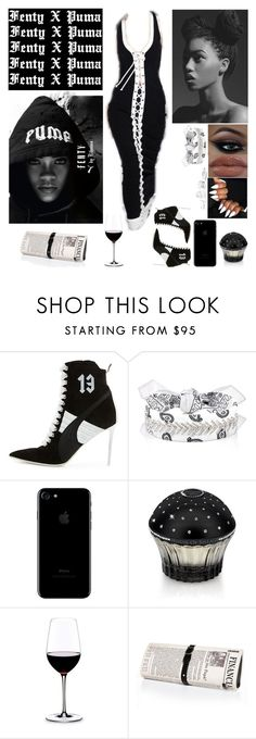 """Fenty X Puma"" by sonnet-xo ❤ liked on Polyvore featuring Puma, Fallon, House of Sillage, Riedel, Papà Razzi and GUESS"