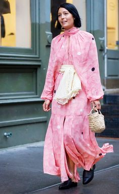 Flowy and pink.