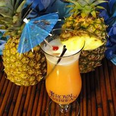 Mai Tai. Two flavors of rum combine with pineapple juice and orange juice to make a yummy, fruity drink.