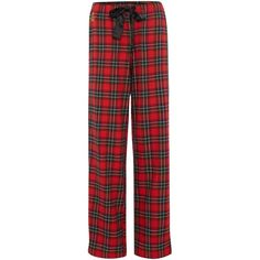 Lauren Ralph Lauren Classic Check Long Pj Pant ($56) ❤ liked on Polyvore featuring intimates, sleepwear, pajamas, pants, bottoms, 16. comfy wear., red, sale, red pajamas and pj pants
