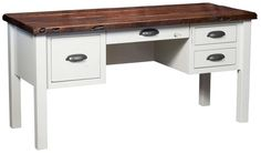 Amish Carson Writing Desk with Reclaimed Top Have a writing desk built for your own office space, a place to write from and a place to store papers and office essentials. Comes standard with a rustic reclaimed wood top, or choose another wood to create your favorite look.