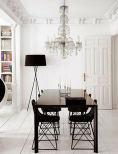 white interior with black accents « Spearmint Decor