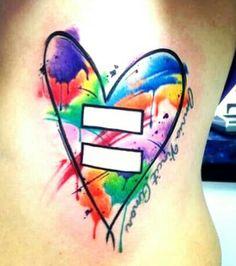 Lovely love-equality tattoo by Darrin Ennis, on Stephanie MacInnes' body.