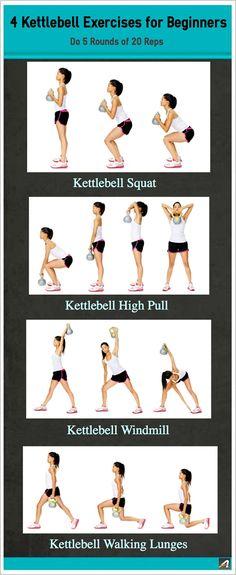 4 Kettlebell Exercises for Beginners @Katie Hrubec Hrubec Hrubec Hollingshead Ostenson