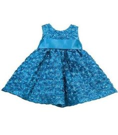 Rare Editions Baby Infant-Girls Soutache Rose Sequins Dress, Turquoise: Amazon.com: Clothing
