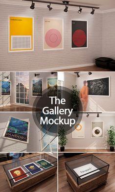 The Gallery MockUp #premiummockup #presentationmockups #brandingmockup #businesscardsmockup #mockuptemplates #tshirtmockup #flyermockup #tabletmockup
