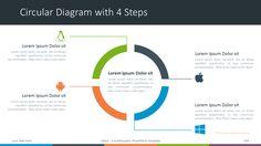 Större - Multipurpose PowerPoint Template - Circular Diagram with 4 Steps