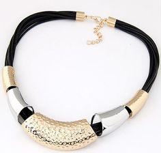 Fashion Charm Women Collar Choker Gold Statement Chain Pendant Bib Necklace - https://barskydiamonds.com/necklaces/