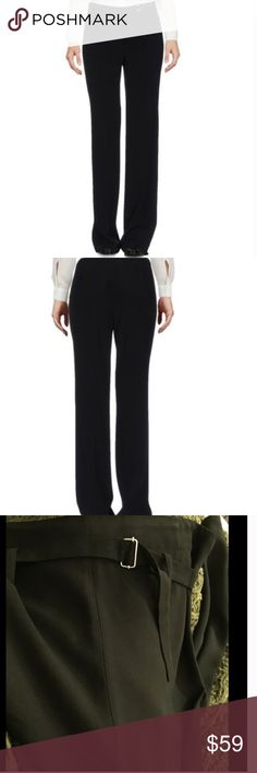 Costume national black straight trousers Sz 6 Black high waisted trousers Costume National Pants Trousers