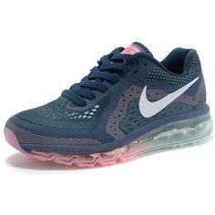 http://www.asneakers4u.com/ Cheap Air Max 2014 Womens Trainers Blue Pink sz36 40