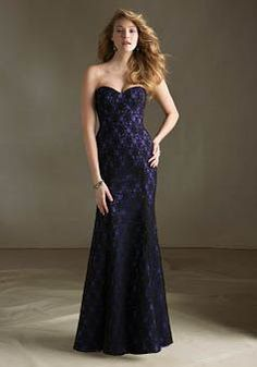 Lace Mermaid Floor Length Sweetheart With Lace Bridesmaids Gown
