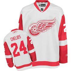 e632fb390a7 Authentic Vladimir Konstantinov White Men's NHL Jersey: Detroit Red Wings  Reebok Away