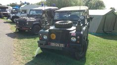 Military Land Rovers at Billing Aquadrome Land Rover Fest 2014 Land Rover Defender XD Pulse ambulance, V8 127 Ambulance, Defender 90 XD ' Wolf ' Military Police, Land Rover Series Three 88 Soft Top 2.25 petrol G.S.