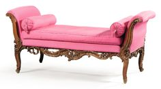 A German carved beechwood bench, 18th century.