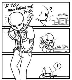 Anonymous said: Can we see all of your favorite versions of Frisk in one drawing? >~ Answer: I CAN'T CHOOSE BUT I CAN SHOW YOU ALL THE DIFFERENT FRISKS IN THE UT MOB AU? Little Pup: Frisk with the...