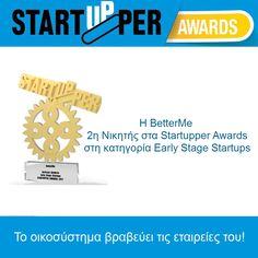 Η BetterMe 2η Νικητής στα Startupper Awards στη κατηγορία Early Stage Startups. Σας ευχαριστούμε για την υποστήριξη. https://goo.gl/u2vLGe 👍😀🌈🏆 του #Startupper, #StartupperAwards, #GreekStartupAwards, #StartupGR, #Startup #BetterMeEU