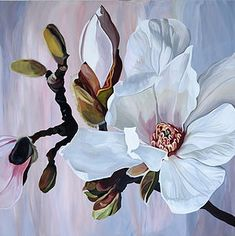 - Touches of art Painting easy Painting ideas Painting water Painting tutorials Painting landscape Painting abstract Watercolor Painting Magnolia Paint, Magnolia Flower, Big Flowers, Beautiful Flowers, Watercolor Flowers, Watercolor Paintings, Floral Paintings, Simple Watercolor, Art Paintings