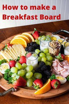 Healthy Breakfast Dishes, Breakfast Platter, Breakfast Presentation, Food Presentation, Healthy And Unhealthy Food, Party Food Platters, Food Picks, Appetizers, Appetizer Recipes