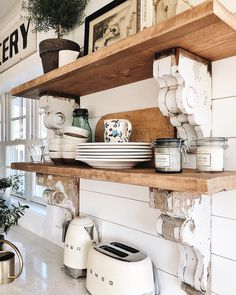 Farmhouse living room office corner - kitchen ideas decor with wood deco for o . - Farmhouse living room office corner – kitchen ideas decor with wood decoration for order – - Farmhouse Style Kitchen, Home Decor Kitchen, Rustic Kitchen, New Kitchen, Home Kitchens, Vintage Kitchen, Apartment Kitchen, Kitchen Paint, Decorating Kitchen