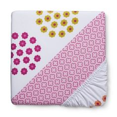 Circo® Duo Print Pink Floral Fitted Crib Sheet