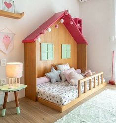 Image may contain: bedroom and indoor de habitacion de bebe Baby Bedroom, Baby Room Decor, Girls Bedroom, Bed For Girls Room, Little Girl Rooms, Kids Bedroom Designs, Kids Room Design, Bedroom Ideas, Toddler Rooms