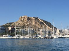 Alicante marina with Santa Barbara castle in the background