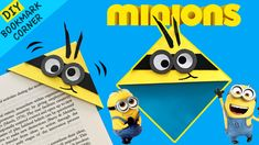 How to do easy bookmark corner for adorable Minions?!?  If you love Minions, this easy Minion paper craft video is for you! Watch how to make Minion bookmark corner in easy steps :) Don't forget to subscribe for easy paper crafts for kids. Paper Bookmarks, Paper Crafts For Kids, Craft Videos, Minions, Don't Forget, Corner, Watch, How To Make, Diy